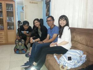 With Ginan and our translator, A*, in the Rumah Cemara office